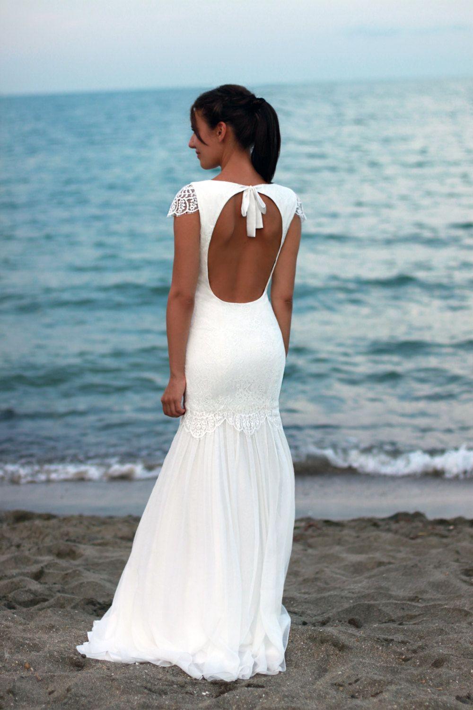 Bohemian Wedding Dress Beach Wedding Dress Lace by PolinaIvanova ...