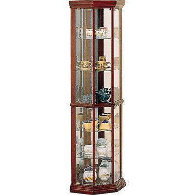 Wildon Home ® Benton City Corner Curio Cabinet
