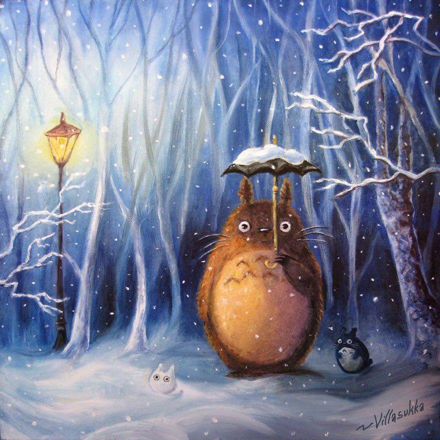 """Studio Ghibli France en Twitter: """"Ambiance hivernale pour Mon voisin Totoro avec ce très beau fan-art réalisé par Villasukka ❄️ https://t.co/gZH7nFAPzb #Ghibli #Totoro #Art https://t.co/dXWxLUWwl0"""""""