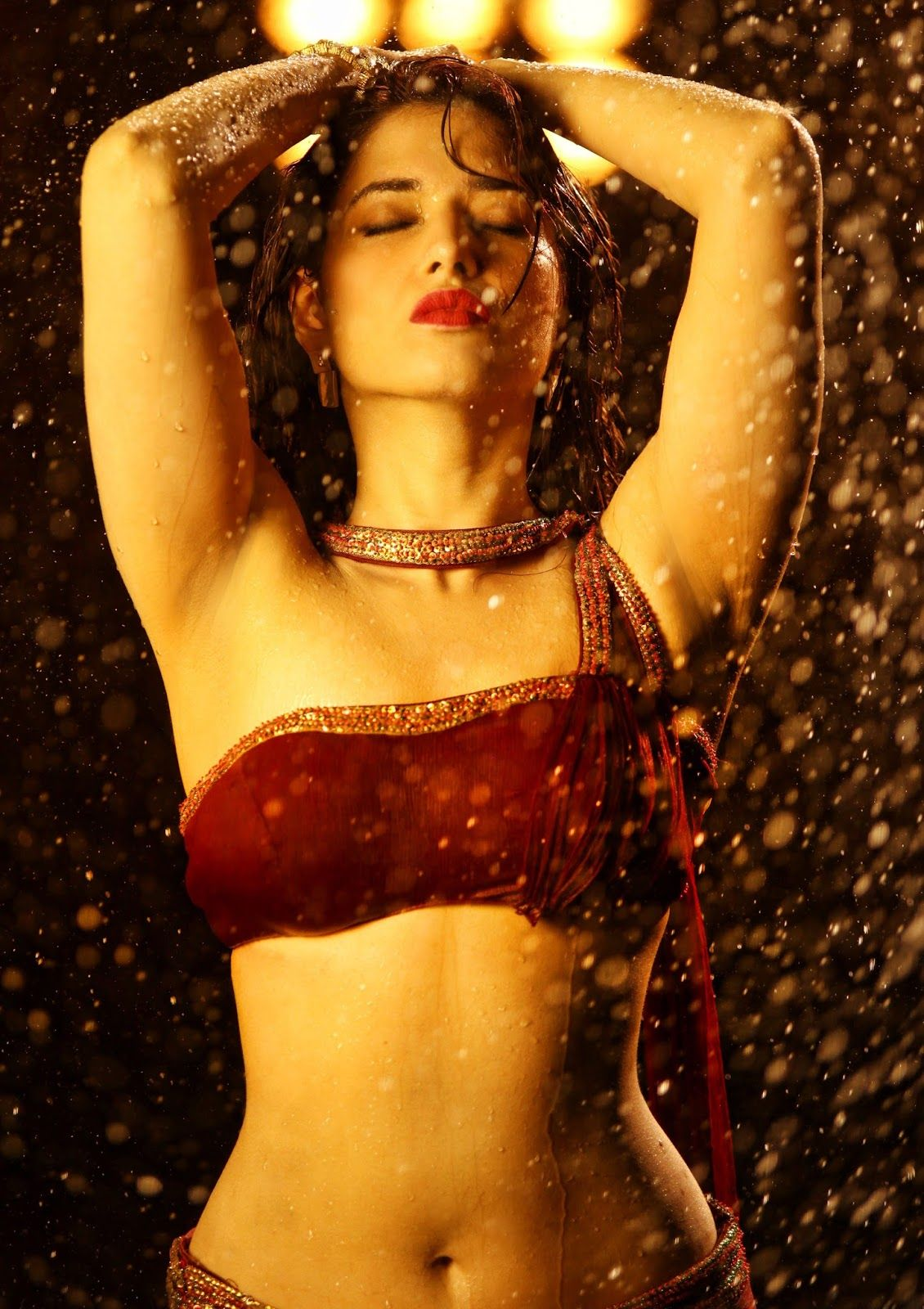 tamanna red hot in bengal tiger | bollywood | pinterest | bengal