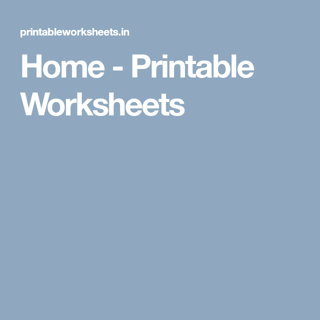 Home - Printable Worksheets | lesson plans | Pinterest | Printable ...