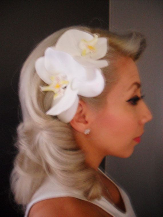Orchid Flower Comb by BuxomDollClothing on Etsy, $19.99