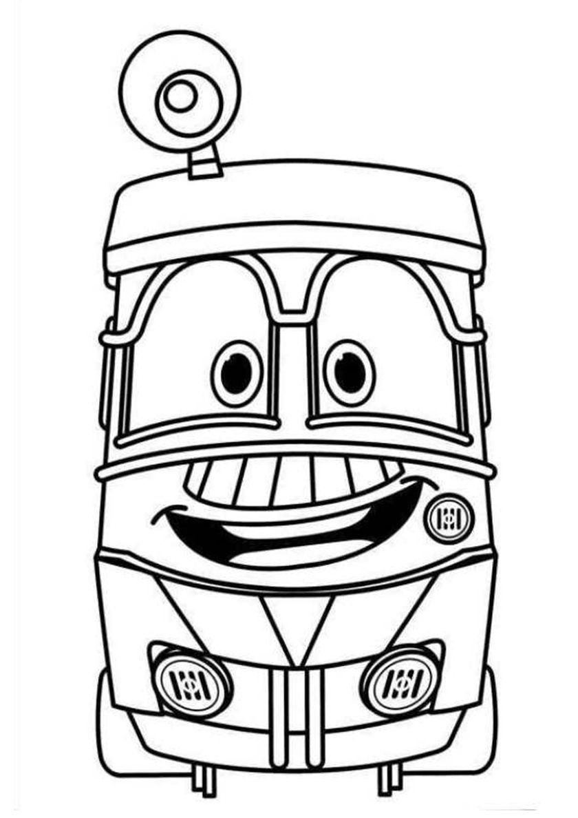 Robot Train Jeffrey Cartoon coloring pages, Coloring pages