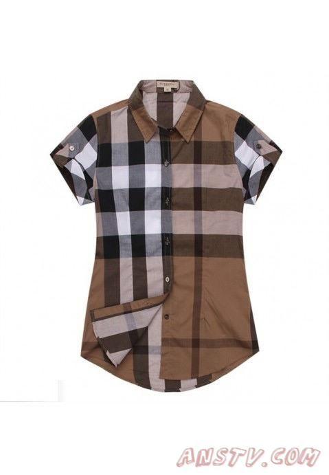 de nouveaux styles venant Femmes's Burberry TextuRouge Stripe Shirts wshirt174