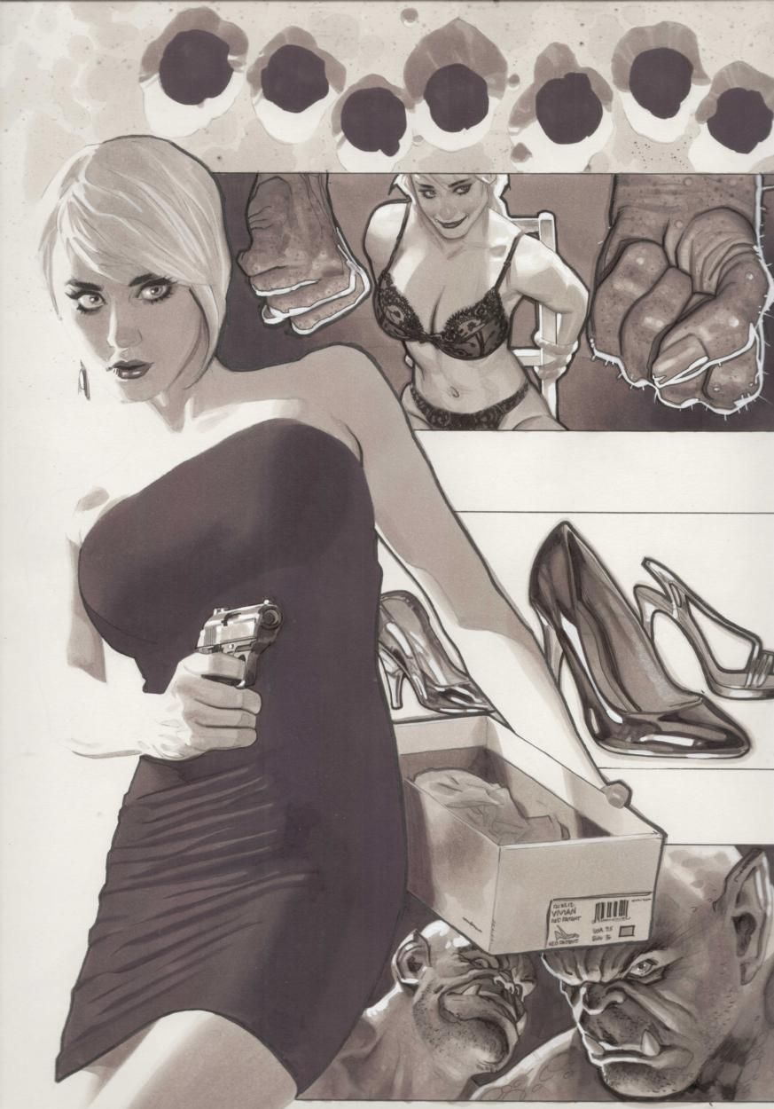 Love @AH_AdamHughes amazing artwork. This is the cover to FAIREST #21. #comics #art