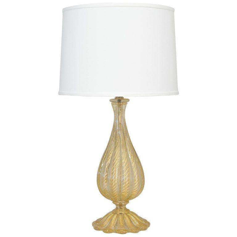 Barovier Murano Glass Lamp Art Glass Table Lamp Glass Lamp Murano Glass