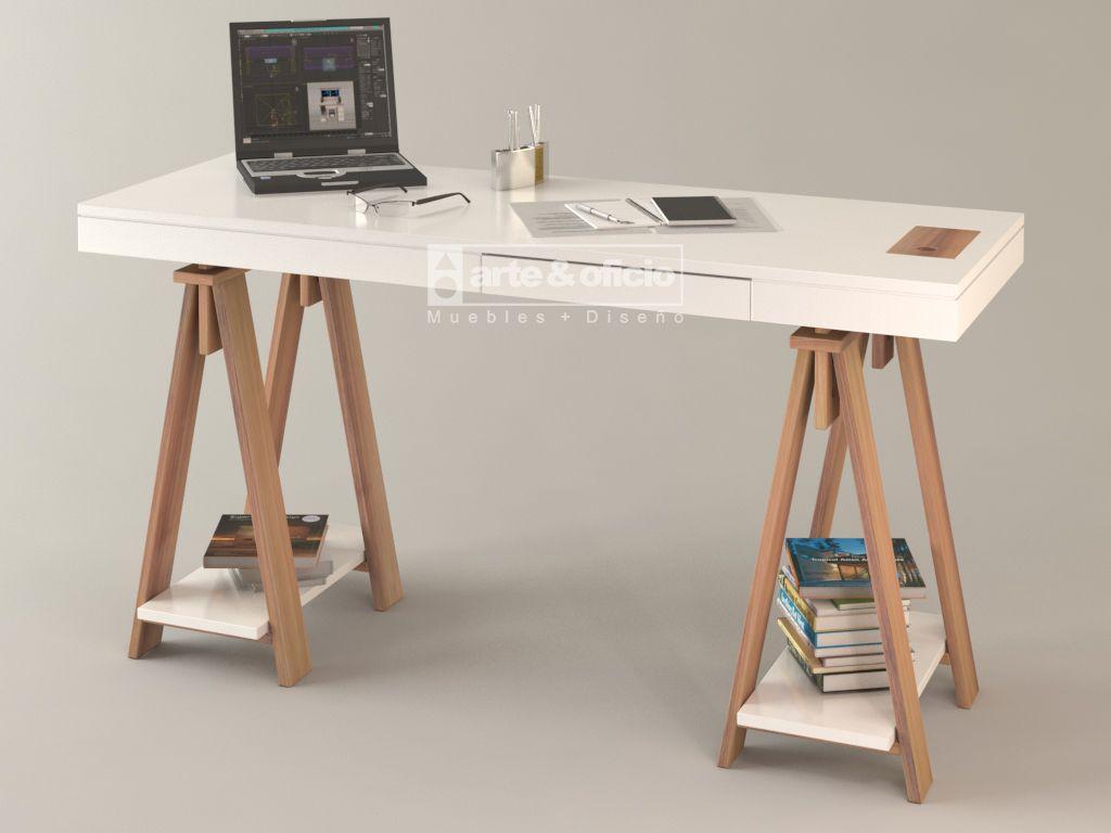 Escritorio mistol equipado vista escorzo 2 altura for Escritorio ergonomico caracteristicas