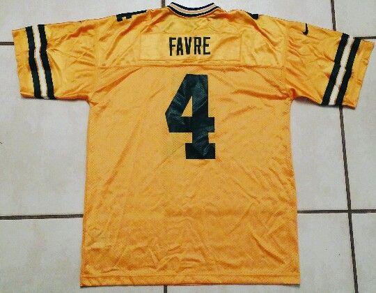 best sneakers 3d75a 6e4f1 Rare Vintage NIKE Green Bay Packers Brett Favre Yellow ...