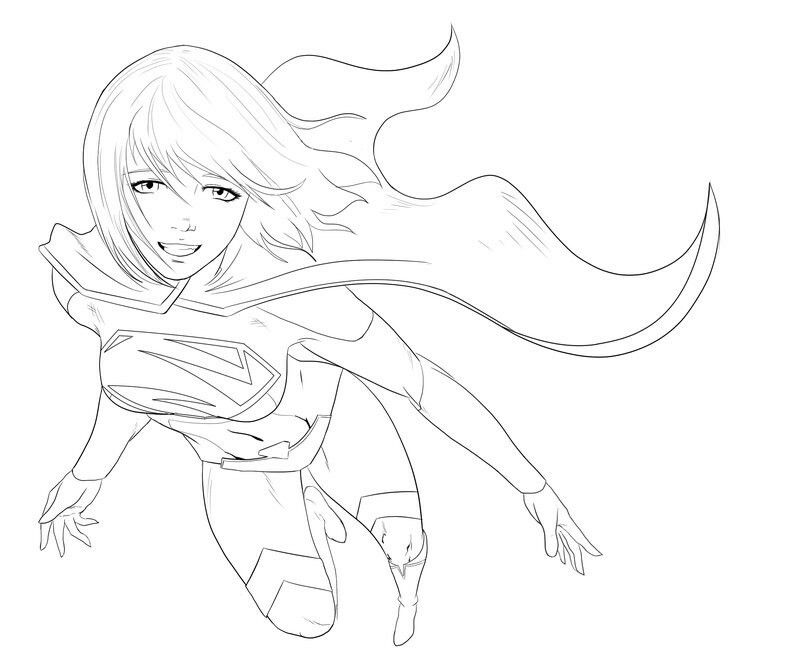 Pin by Damien Stanley on Supergirl Coloring Pages | Pinterest ...