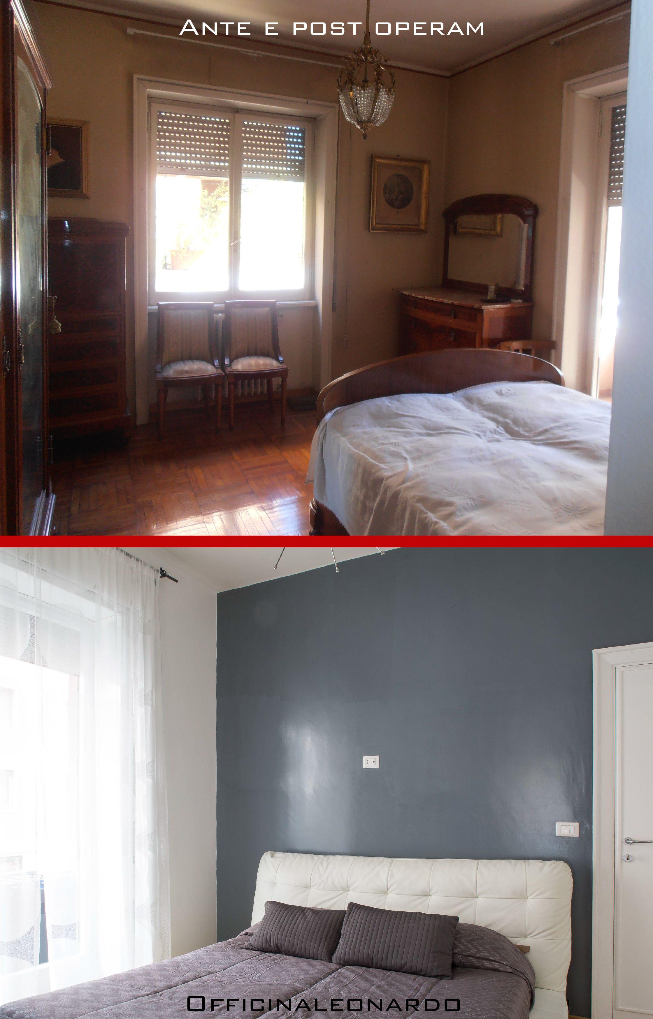 Trasformazione di una camera da letto; luce e stile mini ...