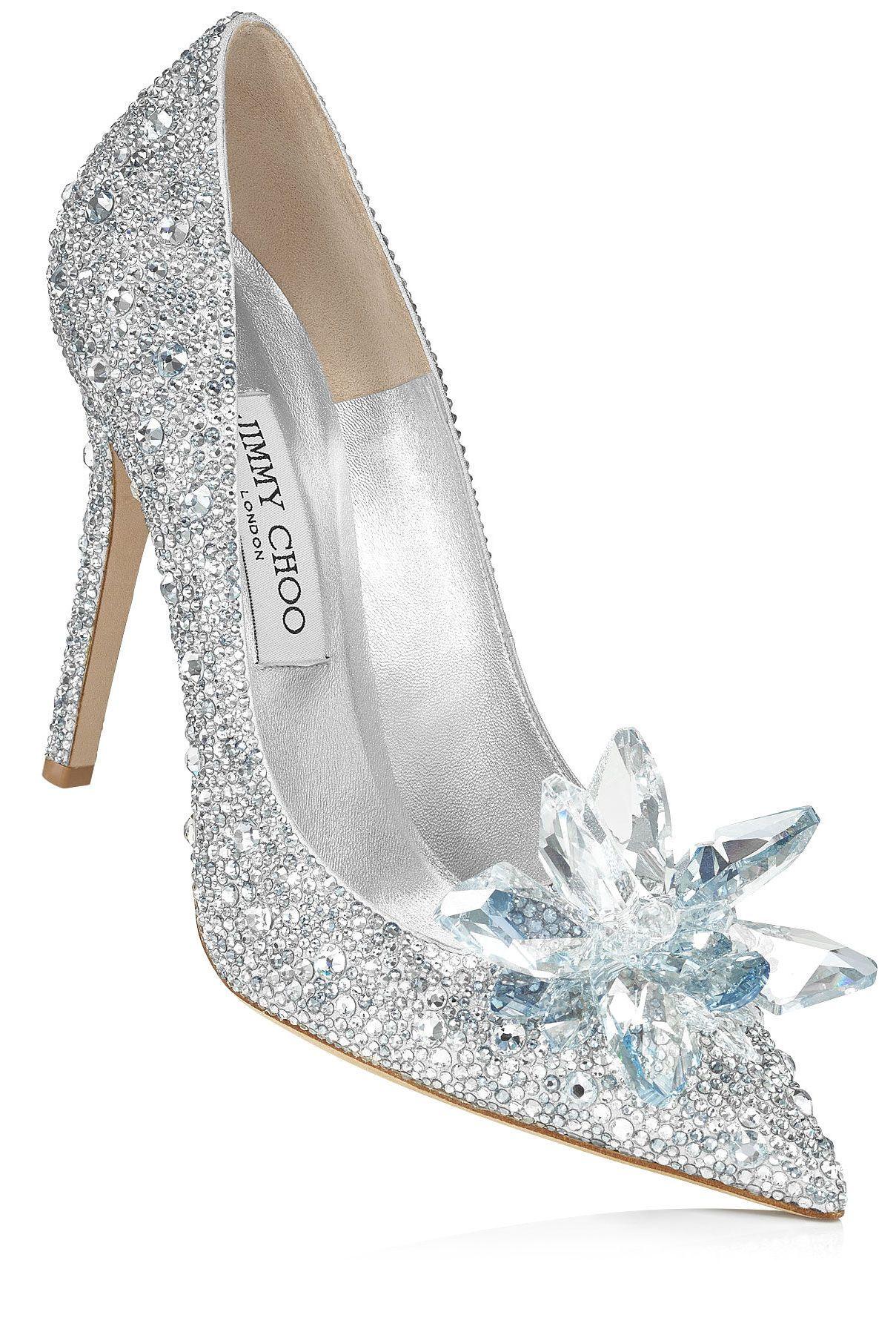 c9f2277eae53 Crystal Covered Pointy Toe Pump  Cinderella Slipper  by  Jimmy Choo ...