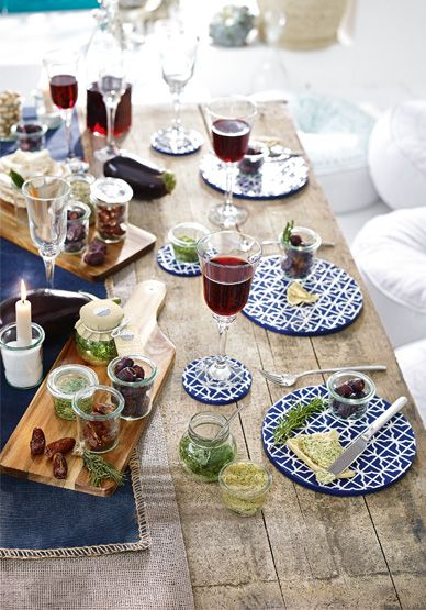 Ein mediterran gedeckter tisch l sst deine g ste for Besteck tisch