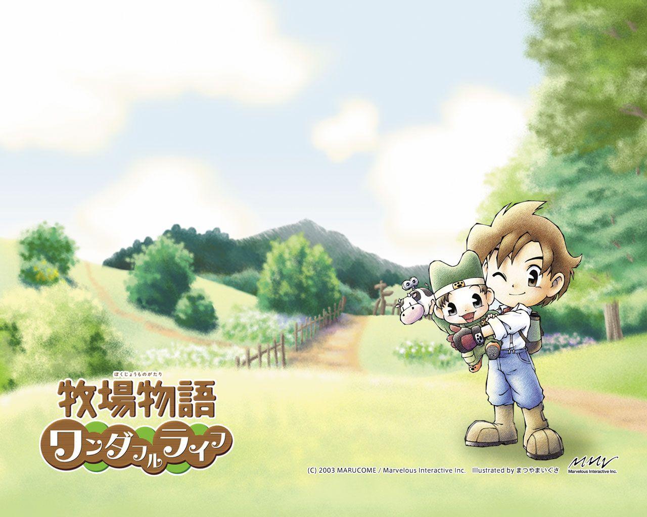 Latest 1 280 1 024 Pixels Harvest Moon Harvest Moon Game Harvest Moon Ds