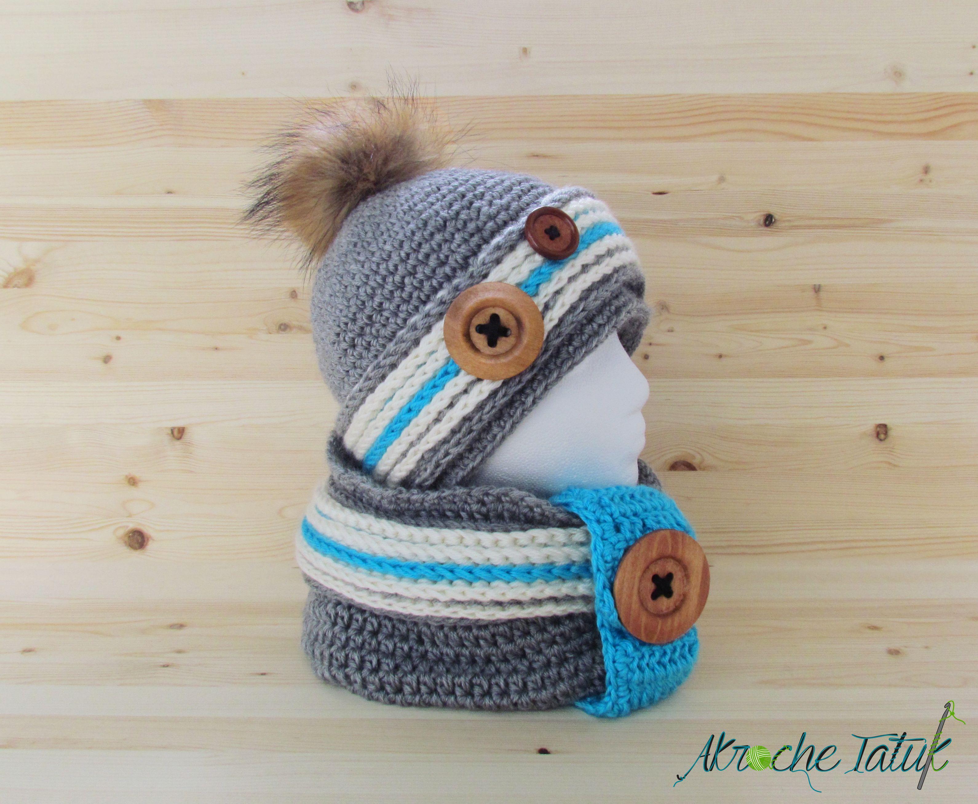 Alaska Kit. Crochet work sock hat and cowl pattern by Akroche tatuk ...