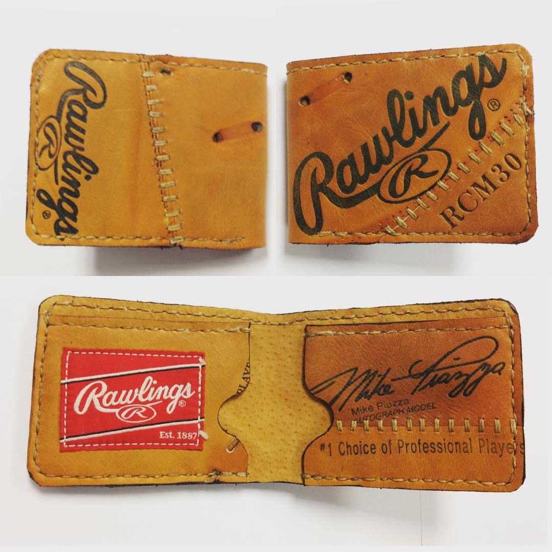 Recycled baseball glove wallet - Repurposed Baseball Glove Wallet By Salt River Leather On Etsy