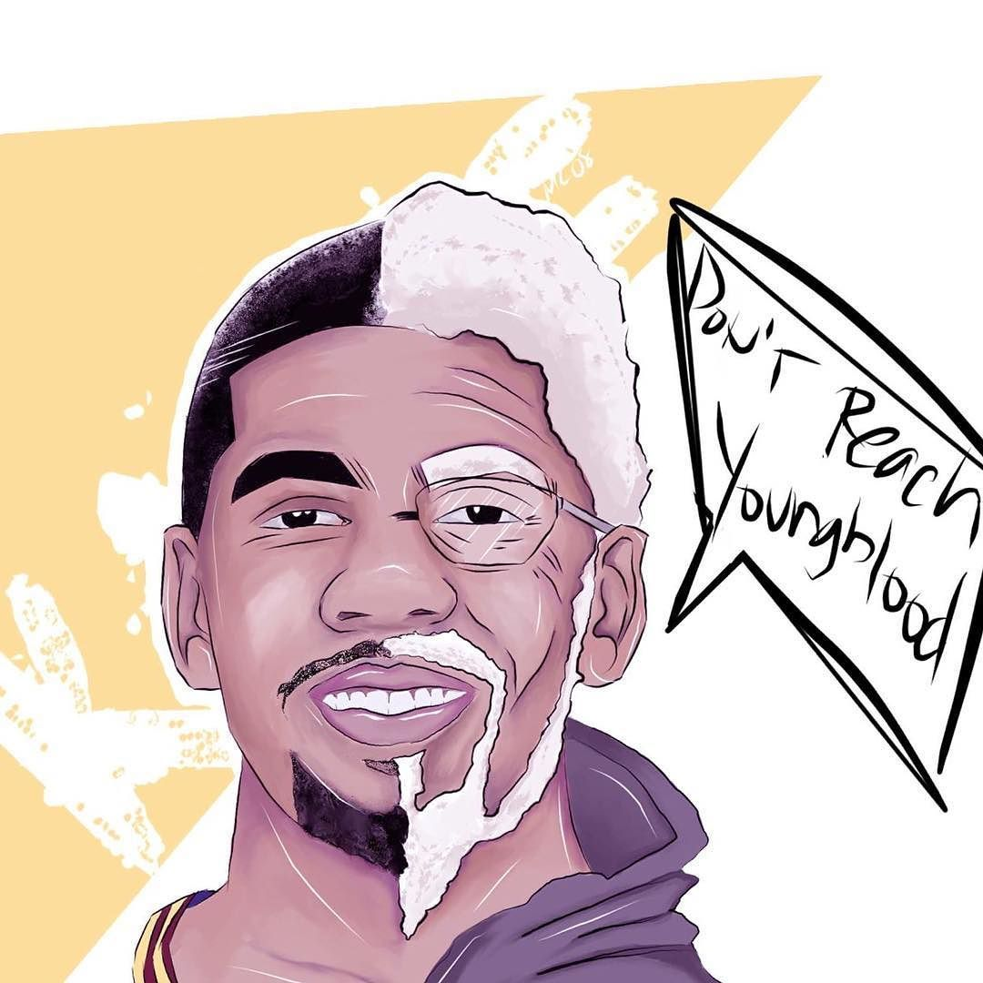 Kyrie X Uncle Drew Waiting For Game 2 NBAArt Sketch Illustration Kyrieirving Uncledrew By Dgr8mc
