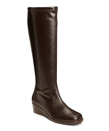 Look at this #zulilyfind! Brown Patent Temprical Wide-Calf Boot by A2 by Aerosoles #zulilyfinds