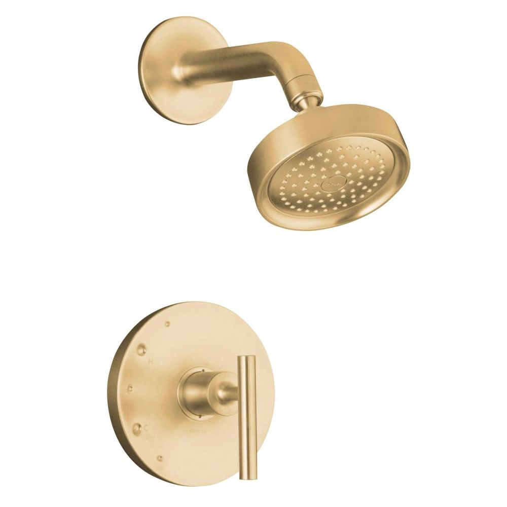 Kohler \'Purist\' Brushed Bronze Rite-Temp Lever Shower Faucet Trim ...