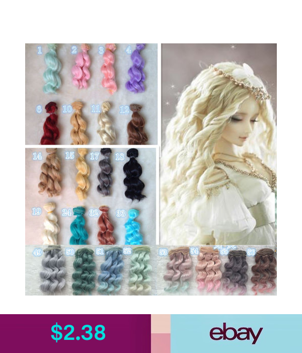1//6 BJD SD Doll Wig High Temperature Synthetic Fiber Long Blonde Braided Wavy 1//3 1//4 1//6 BJD SD Doll Wigs