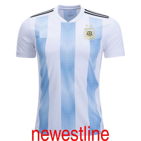 World Cup 2018 Men Home Away Argentina Football Soccer Messi jersey Custom  shirt Discount Price 42.89 Free Shipping Buy it Now bf2759d56
