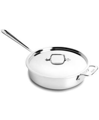 Pleasant All Clad Stainless Steel 3 Qt Covered Saute Pan Macys Com Home Remodeling Inspirations Genioncuboardxyz