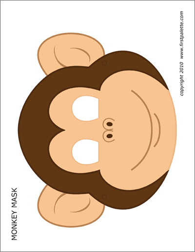 It's just a graphic of Striking Monkey Mask Printable