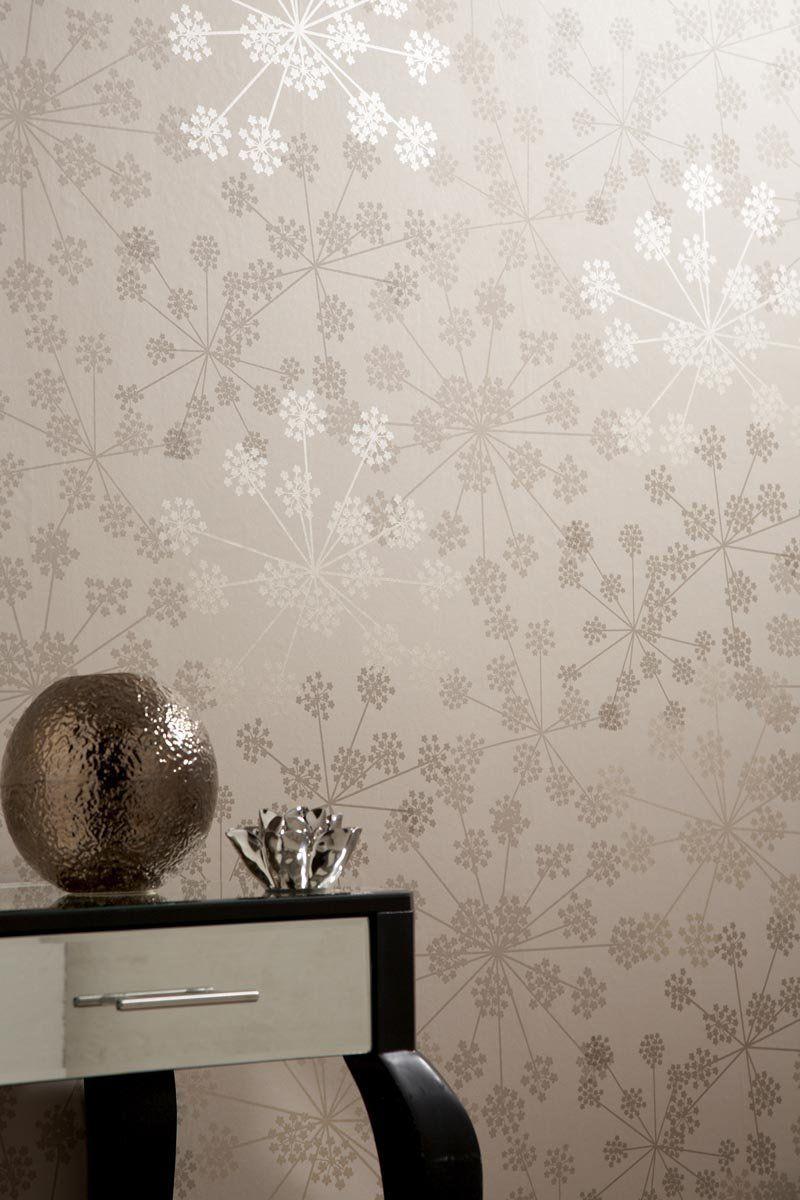 Sparkle Brown Cream Wallpaper Amazon Co Uk Kitchen Home Home