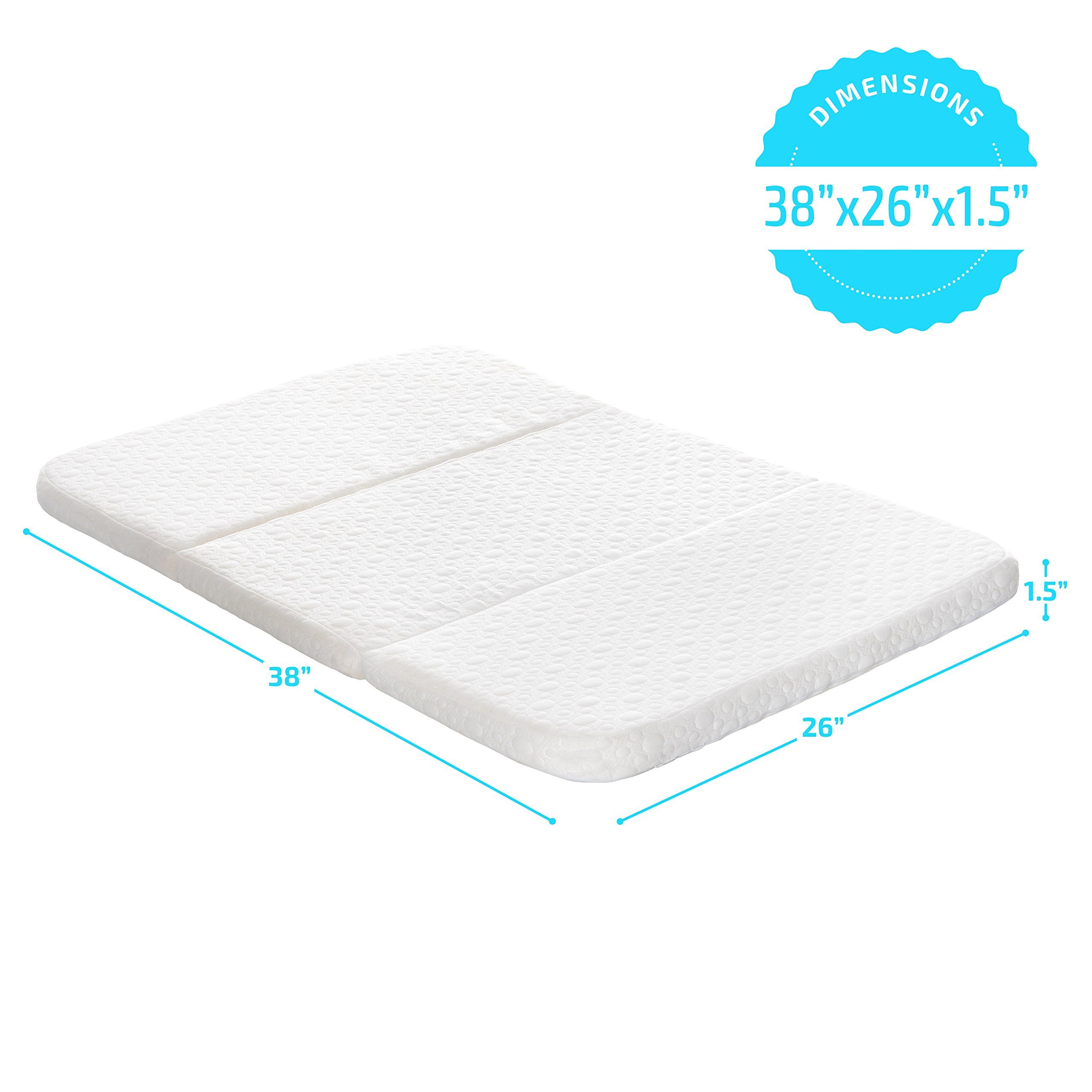 Milliard Pack And Play Mattress Conveniently Folds Into Bonus