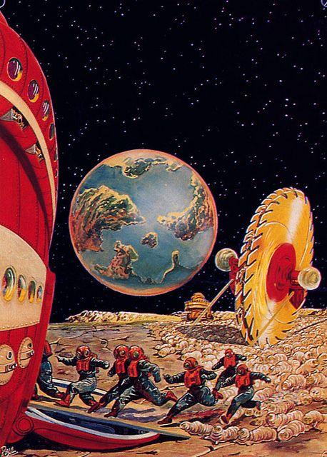 By Frank R Paul Retro Futurism Vintage Sci Fi Art Science Fiction Illustration
