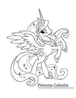 My Little Pony Coloring Pages – Princess celestia Celestia ...