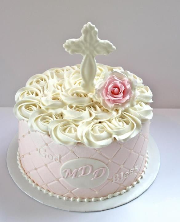 Girl S First Holy Communion Cake Without Cross Would Also Make A