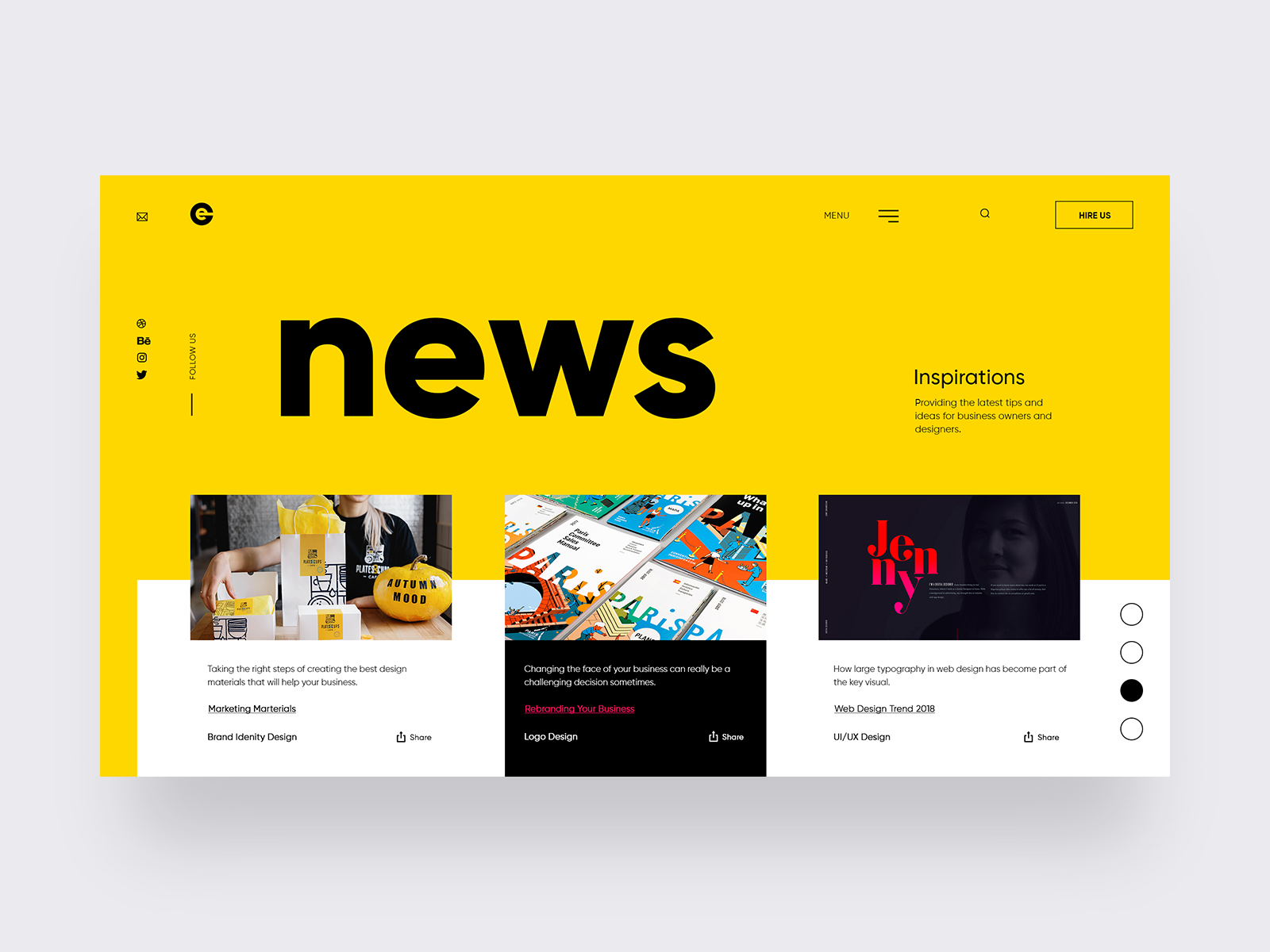 Branding Agency – News Page