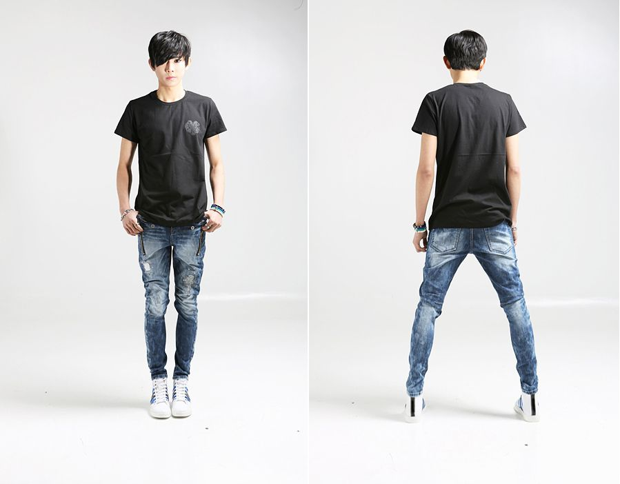 Jeans For Men Ragged Vintage Ripped Denim | Things to Wear