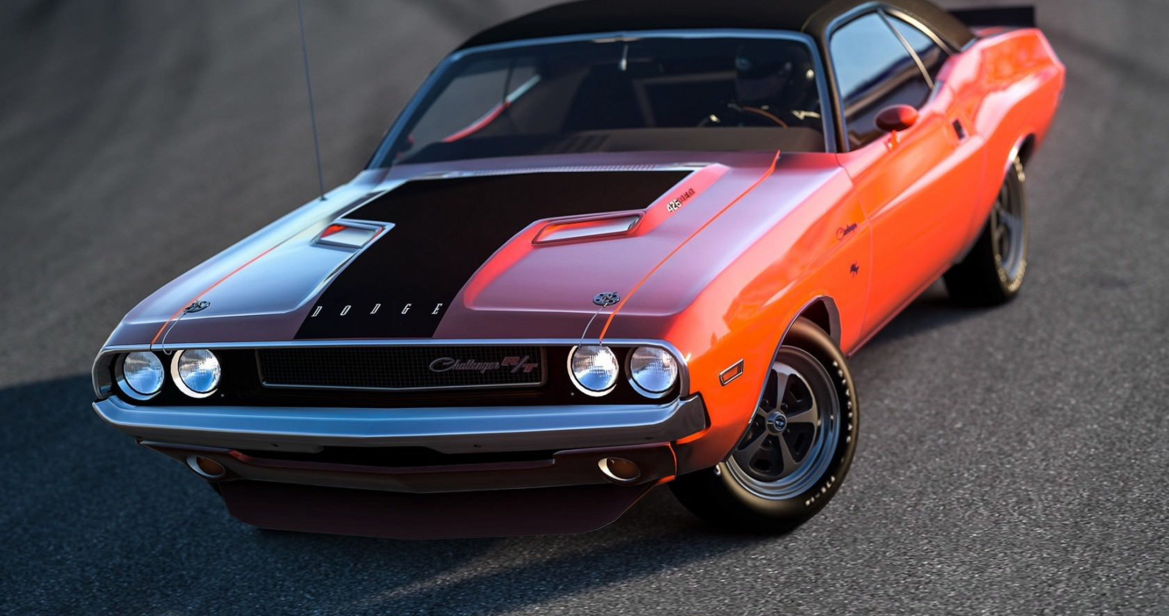 Attractive Dodge Challenger Muscle Car 4k Ultra Hd Wallpaper