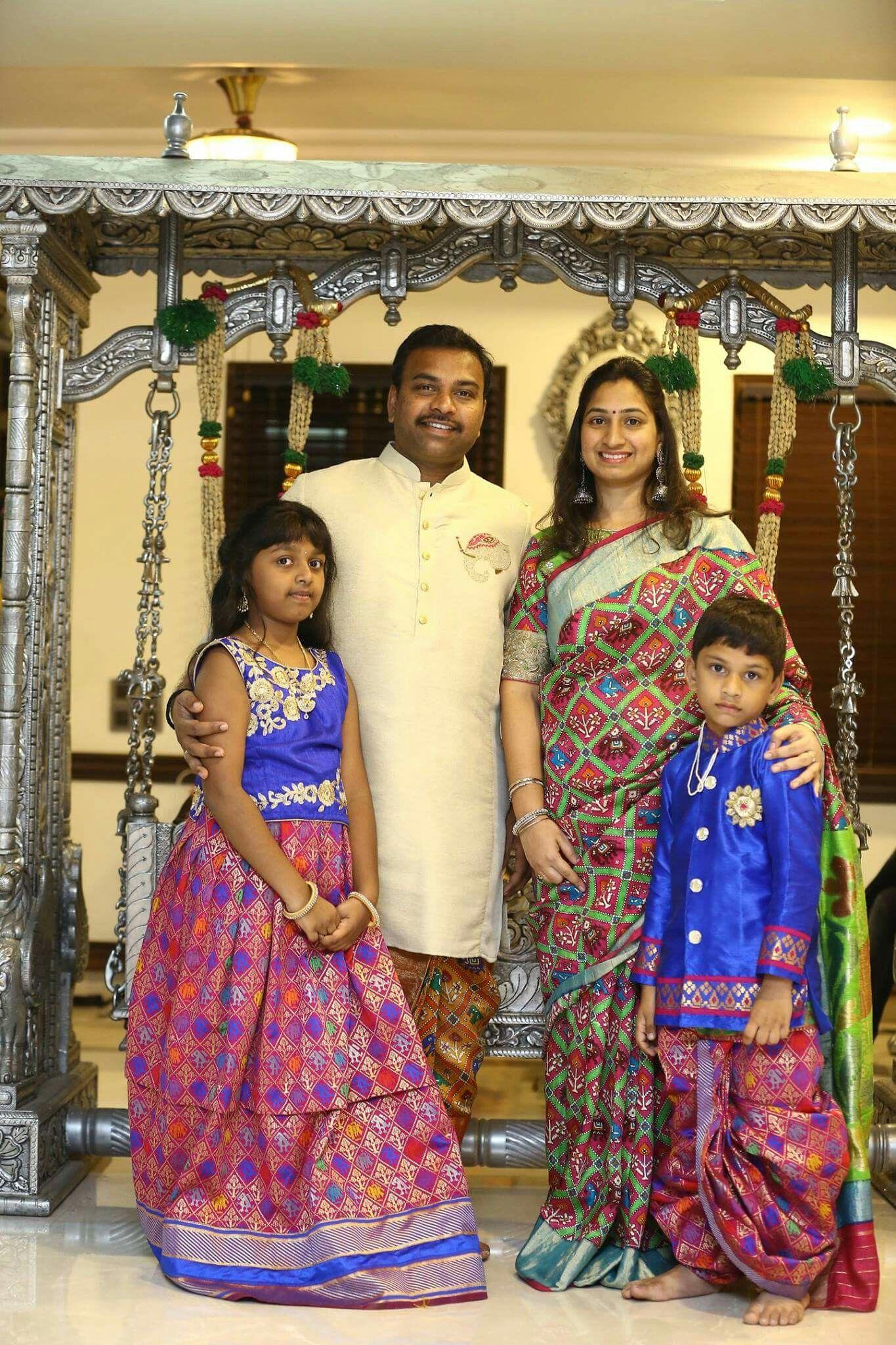 19a2168d53 Pin by R Sudha on mom n me n ma in 2019 | Kids outfits, Family ...
