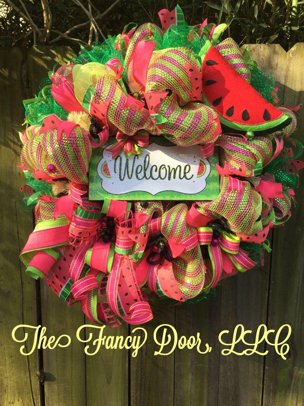 watermelon welcome wreath | wreath | pinterest