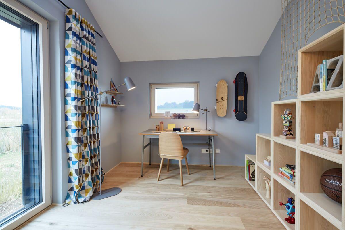 Kinderzimmer Junge & Wandfarbe grau Wohnideen