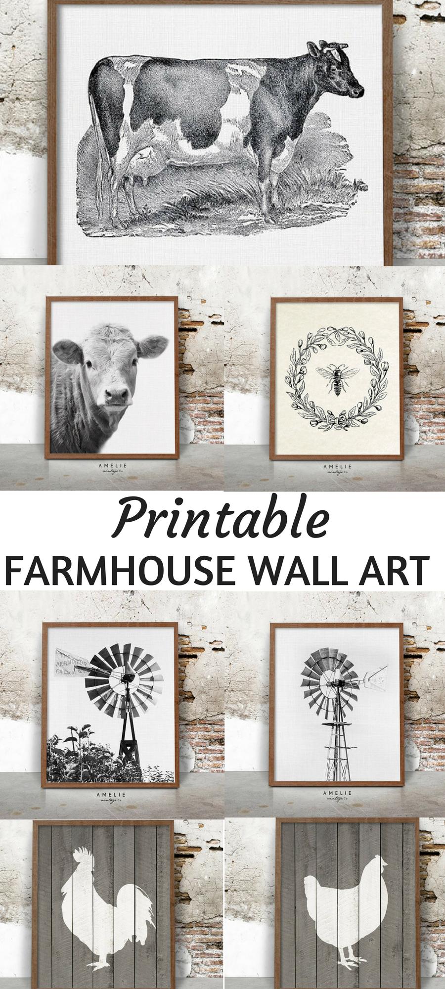 rustic printable farmhouse wall art home decor wall on wall art for home id=95138
