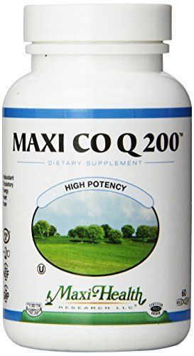 Maxi Health CO Q10 200mg  Coenzyme Q10 Supplement  Heart Health  60 Capsules  Kosher >>> Check this awesome product by going to the link at the image.