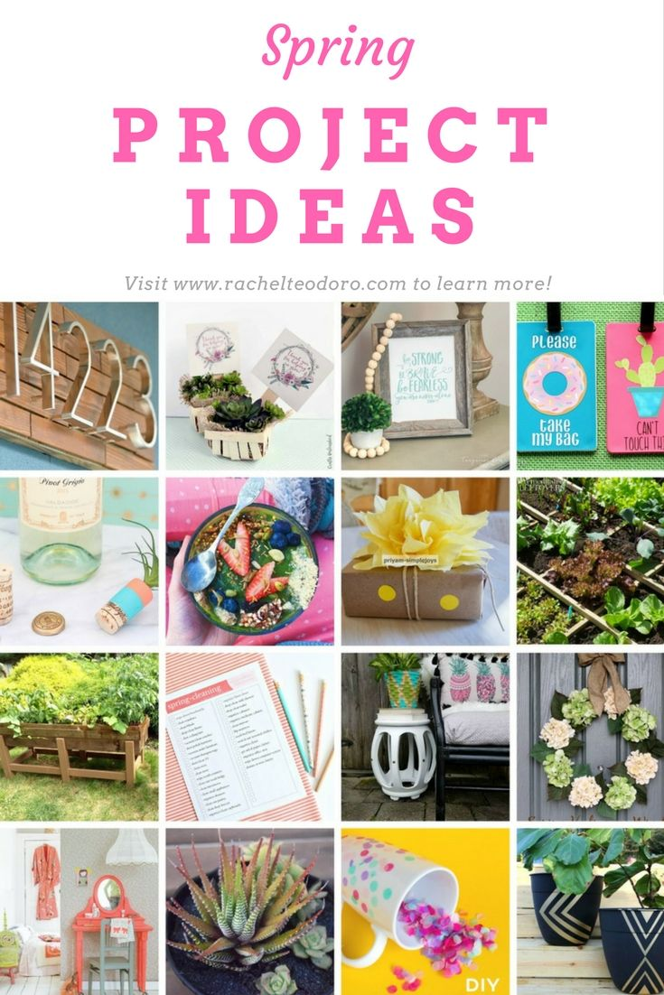 Spring projects that will help inspire you to get through the winter from yummy fruit bowls to DIY ideas and gardening box and planter ideas.