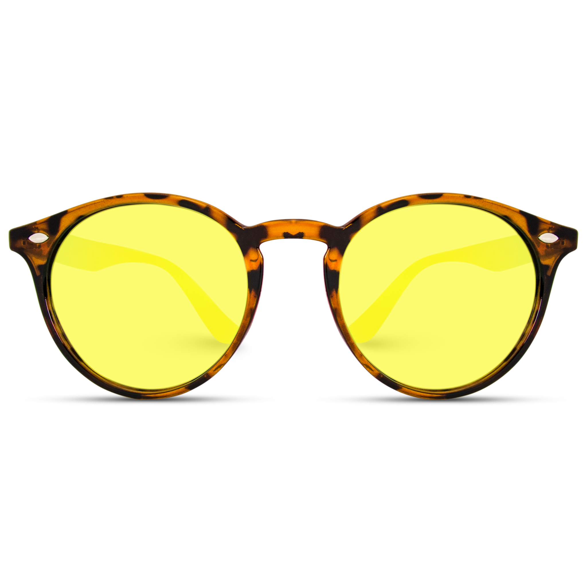 Yellow Lens Hipster Sunglasses New Vintage Retro Glasses Classic Round Sunglasses Perfect For Every Sunglass Frames Round Frame Sunglasses Black Mirror Frame