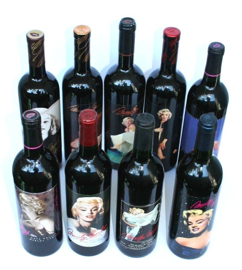 marilyn monroe wine bottles