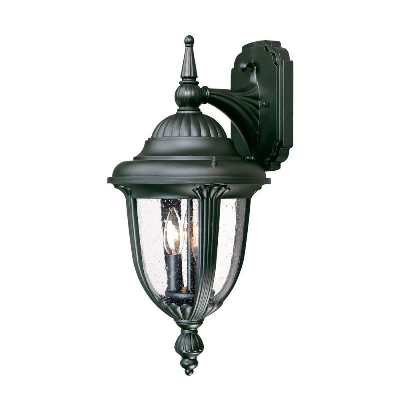 """Acclaim Lighting 3522 Monterey 3 Light 20.5"""" Height Outdoor Wall Sconce Matte Black / Clear Seeded Glass Outdoor Lighting Wall Sconces Outdoor Wall"""