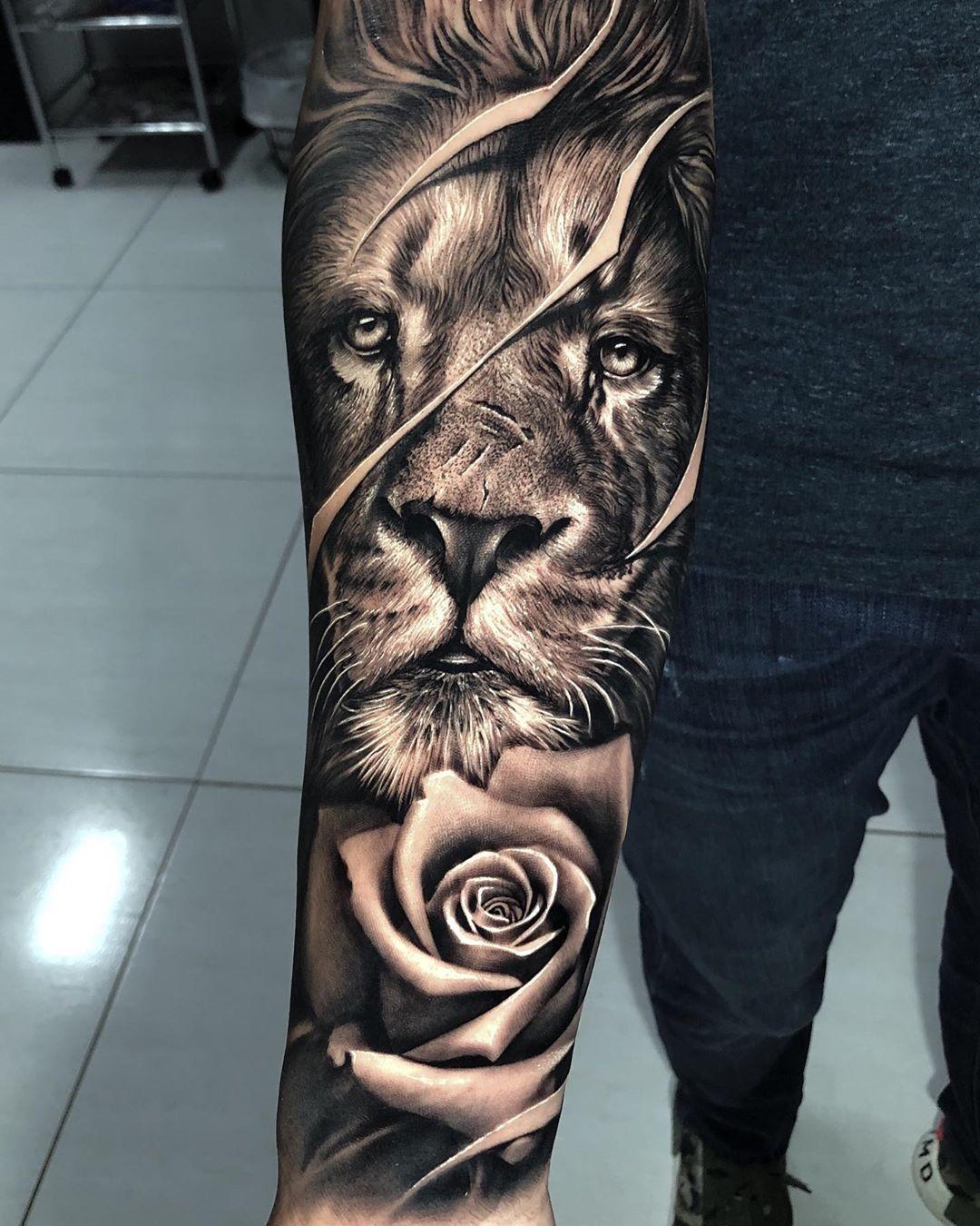 Samurai Standoff On Instagram Electricink Lion Tattoo Sleeves Lion Forearm Tattoos Tattoos