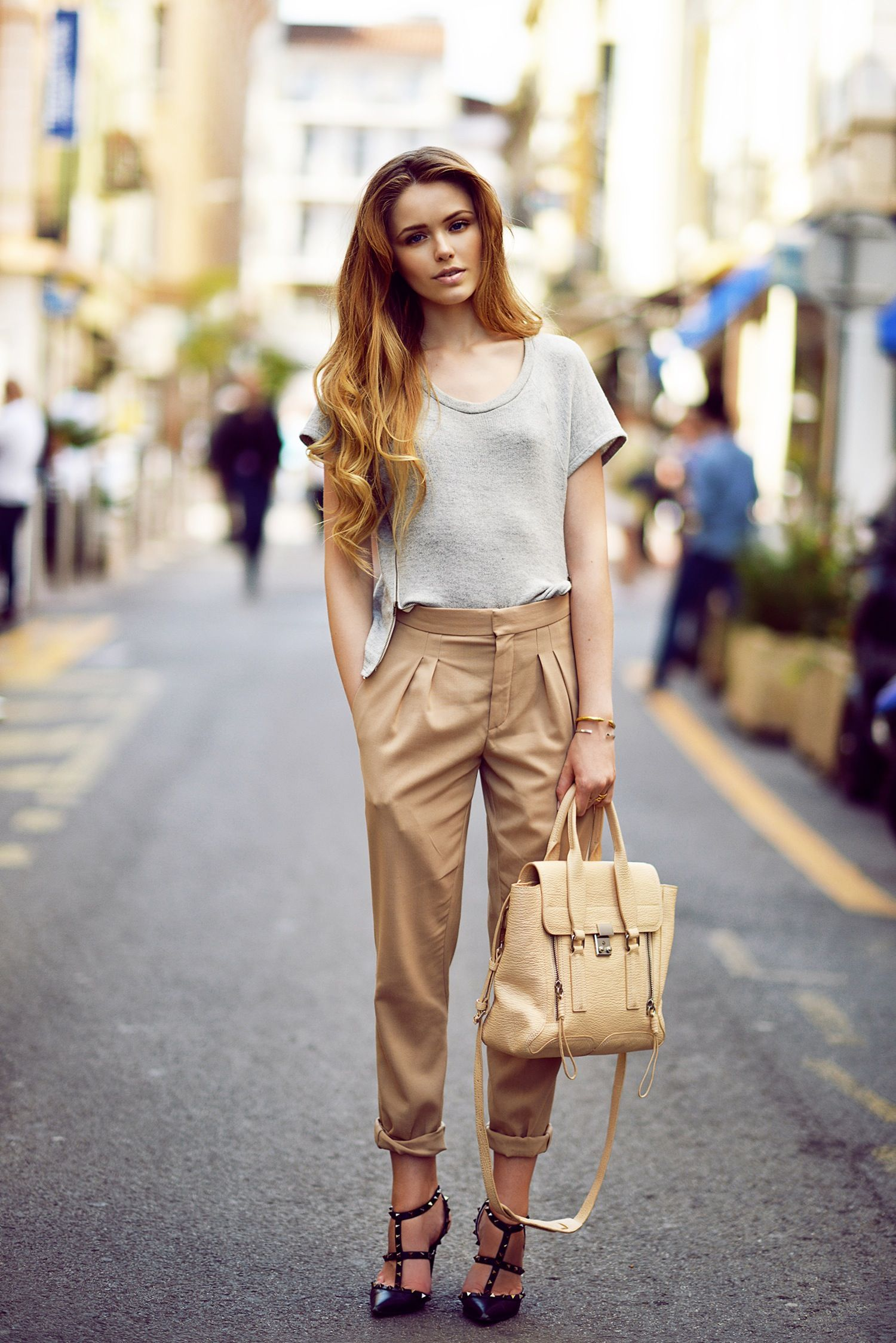 KAYTURE Top: Nations, Trousers: Chloé, Shoes: Valentino, Bag ...
