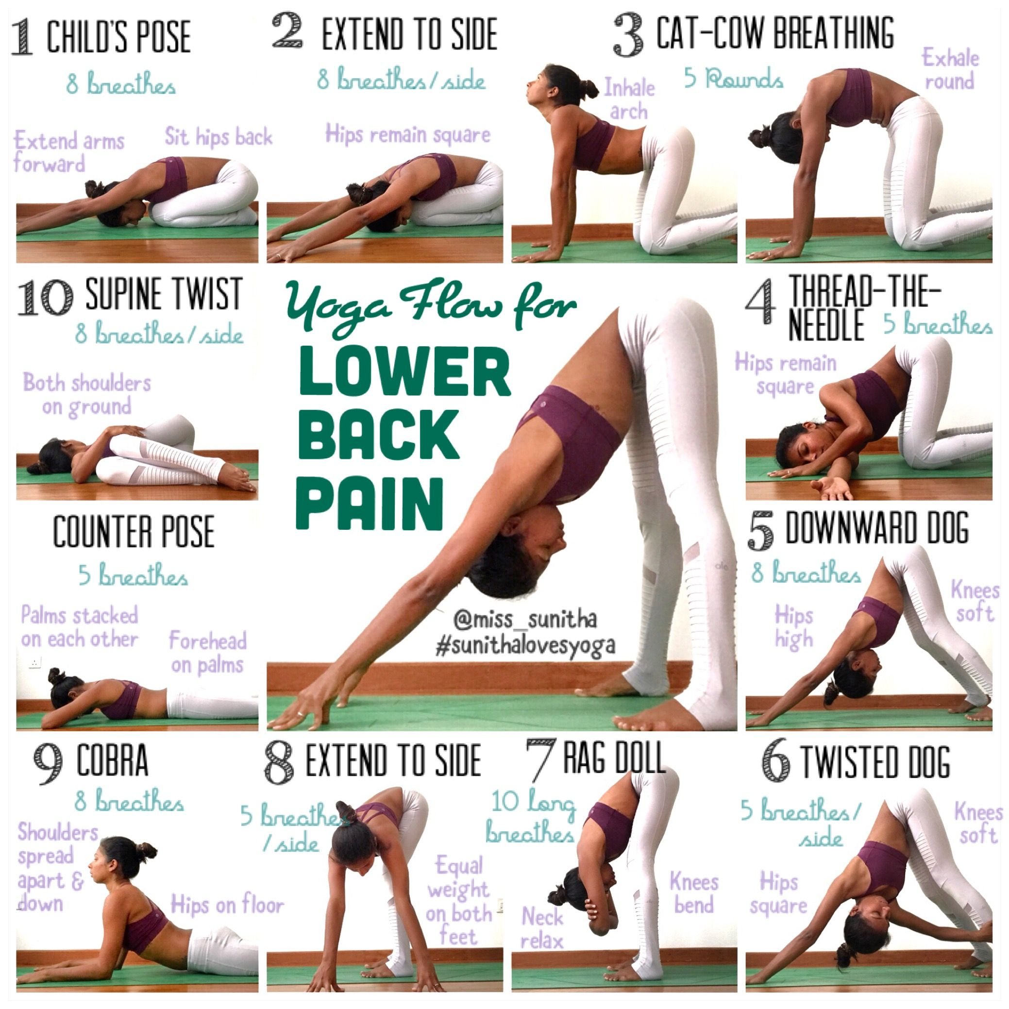 Yoga poses for lower back pain Check my Instagram account
