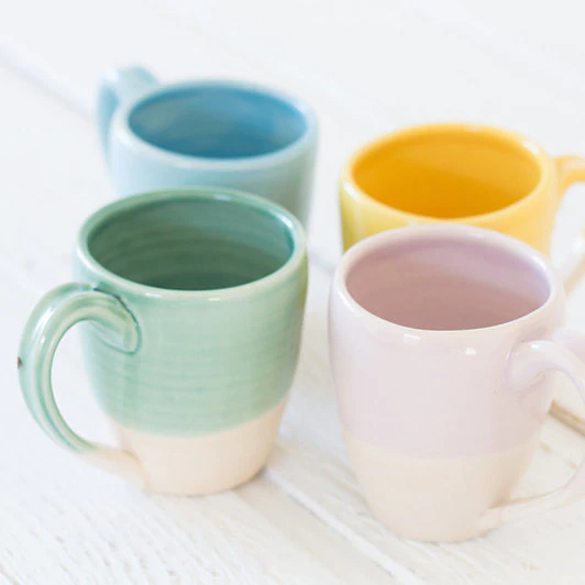 Lafayette Avenue Ceramics - Handmade Ceramic Mug, Pastel Two-Tone