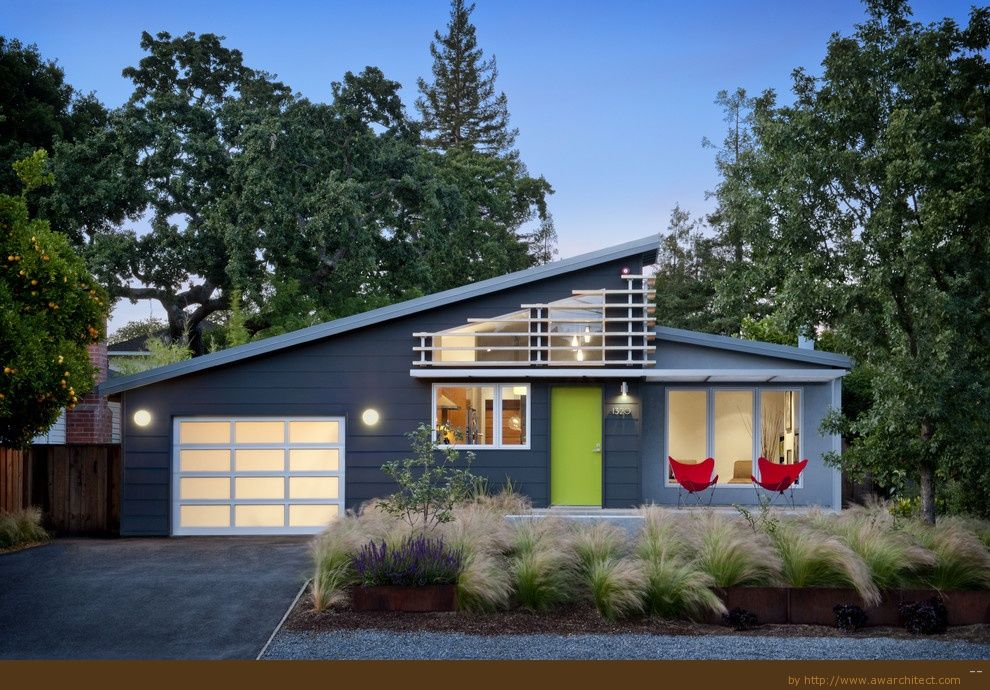 Architecture, Make Over Your Home Exterior Design With Blue Design Of The  Home And Some