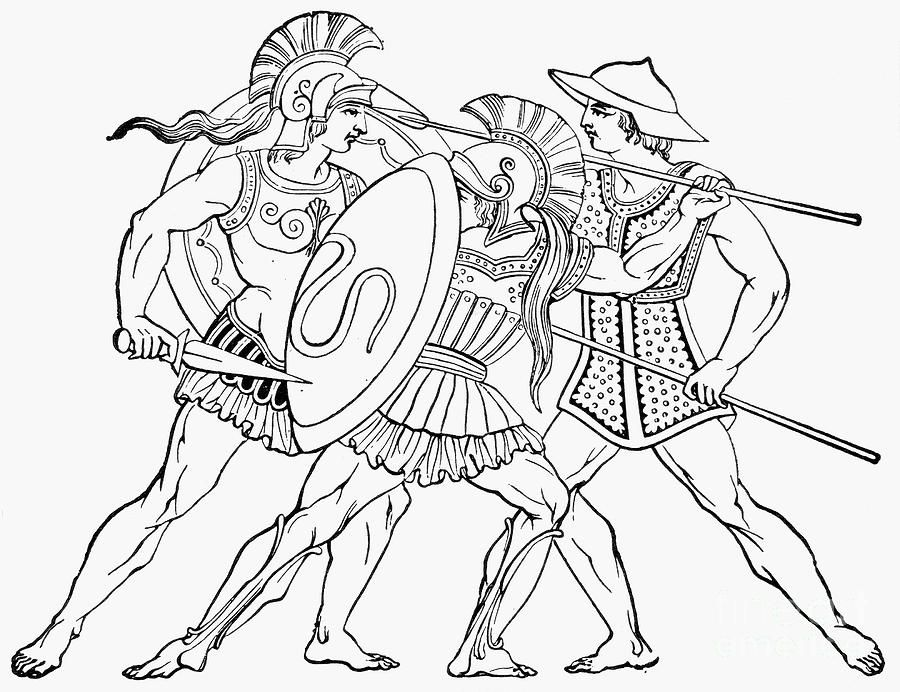 Spartan Warriors Spartan Warrior Warrior Drawing Coloring Pages