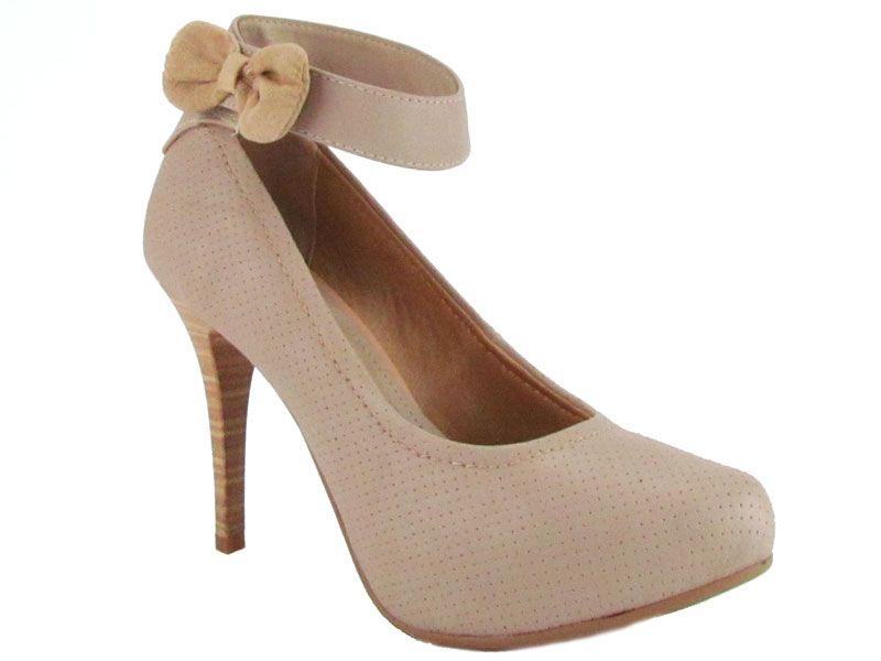 bb517d00bf Mônica Shop - Feminino   Sapatos   Salto Alto   Crysalis 24770971 Sapato    Scarpin boneca salto alto e fino bico arredondado com uma leve meia pata e  com ...